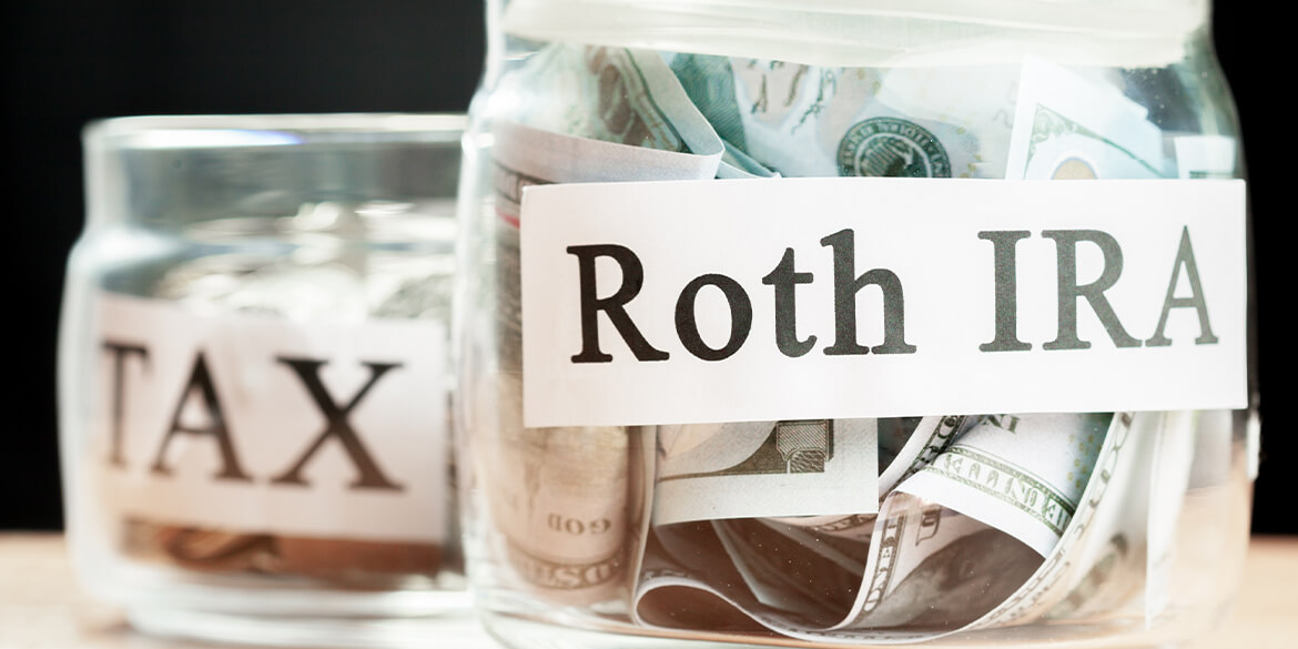 jar with roth ira and tax.
